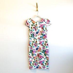 Betsey Johnson Floral Printed Midi Dress